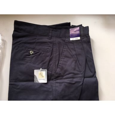 Navy Cotton Chino Trousers